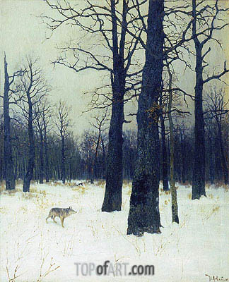 Wood in Winter, 1885 | Isaac Levitan| Painting Reproduction