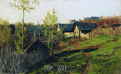 The Log Huts Shined by the Sun, 1889 | Isaac Levitan | Painting Reproduction