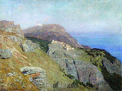 Corniche. Southern France, 1895 | Isaac Levitan | Painting Reproduction