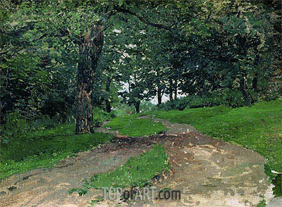 Wood,  | Isaac Levitan | Painting Reproduction