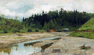 Wood Small River, c.1886/87 | Isaac Levitan | Painting Reproduction