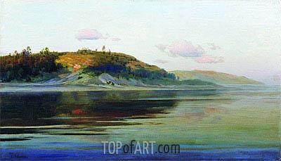 Isaac Levitan | Sommerabend. Fluss, c.1890/96