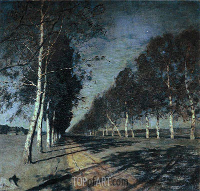 Moonlight Night. Road, c.1897/98 | Isaac Levitan | Painting Reproduction