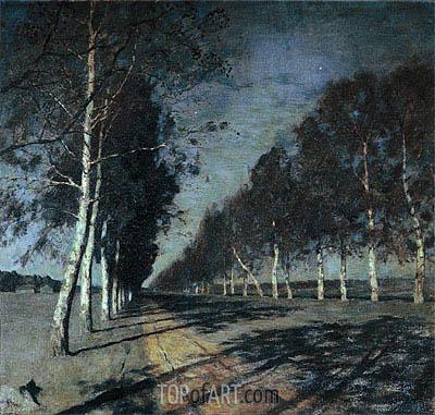 Isaac Levitan | Mondnacht. Die meisten der Straße, c.1897/98