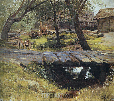 Isaac Levitan | The Bridge. Savvinskaya Sloboda, 1884