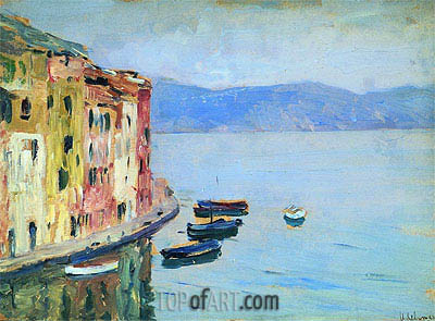 Lake Como, 1894 | Isaac Levitan| Painting Reproduction