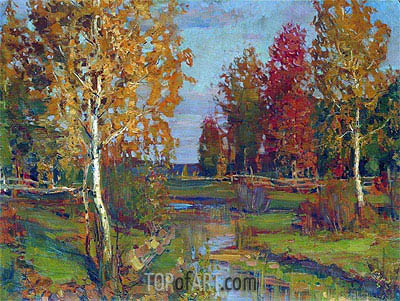 Autumn, a.1890 | Isaac Levitan| Painting Reproduction