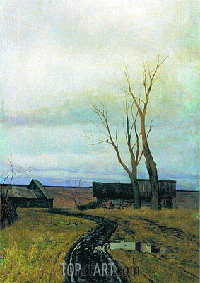 Autumn. Road to Village, 1877 | Isaac Levitan | Painting Reproduction