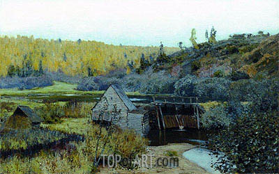 Autumn. Mill. Reach, 1888 | Isaac Levitan| Painting Reproduction