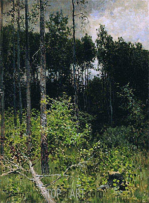 Aspen. Grey Day, 1884 | Isaac Levitan | Painting Reproduction