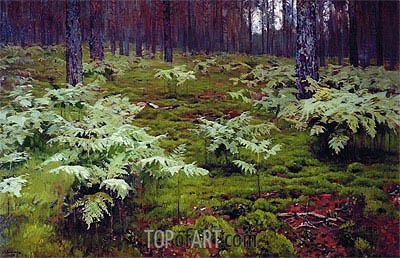 Fern in Wood, 1895 | Isaac Levitan | Painting Reproduction