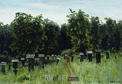 Apiary, a.1880 | Isaac Levitan | Gemälde Reproduktion