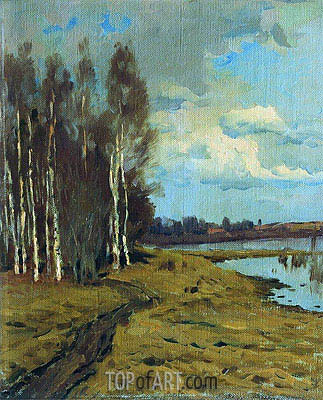 Landscape,  | Isaac Levitan | Painting Reproduction