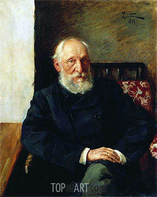 Portrait of Panafidin, 1891 | Isaac Levitan| Painting Reproduction