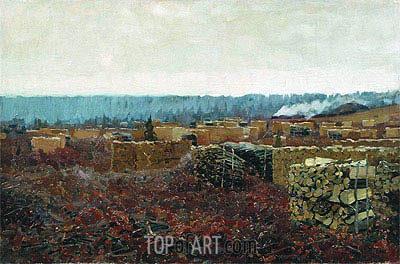 Wood-Cutting , 1898 | Isaac Levitan| Gemälde Reproduktion
