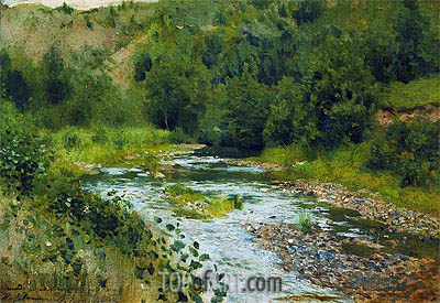 Isaac Levitan | Small River, 1888