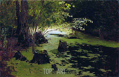 Pond,  | Isaac Levitan | Painting Reproduction