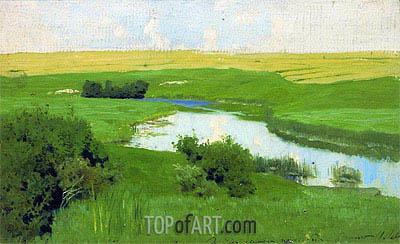 Small River Istra, c.1885/86 | Isaac Levitan | Gemälde Reproduktion