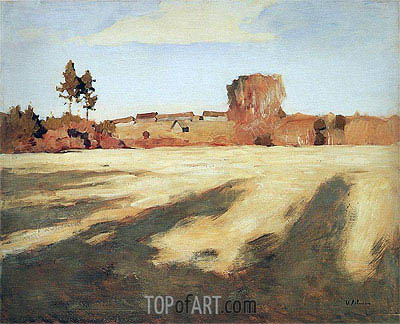Reaped Field, 1897 | Isaac Levitan | Painting Reproduction