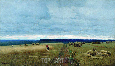 Gloomy Day. Harvest, c.1880/90 | Isaac Levitan | Painting Reproduction