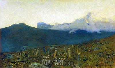 Isaac Levitan | The Tatar Cemetery. Crimea, 1886