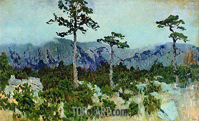 Three Pines, 1886 | Isaac Levitan | Painting Reproduction