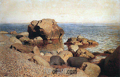 At Seacoast. Crimea, 1886 | Isaac Levitan | Painting Reproduction