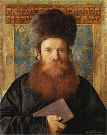 Portrait of a Rabbi, Undated by Isidor Kaufmann | Painting Reproduction