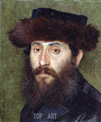 Portrait of a Man with Streimel,  | Isidor Kaufmann | Painting Reproduction