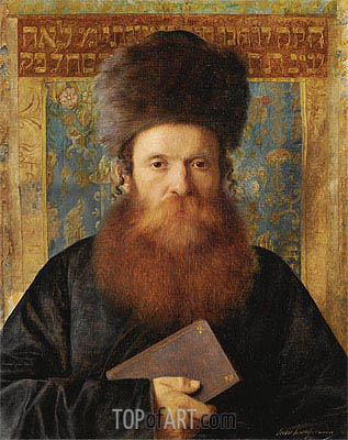 Portrait of a Rabbi, Undated | Isidor Kaufmann | Painting Reproduction
