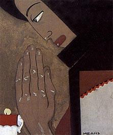 Prayer, 1925 von Ivan Milev | Gemälde-Reproduktion
