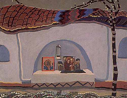 The Maglizh Monastery I, 1925 | Ivan Milev | Painting Reproduction