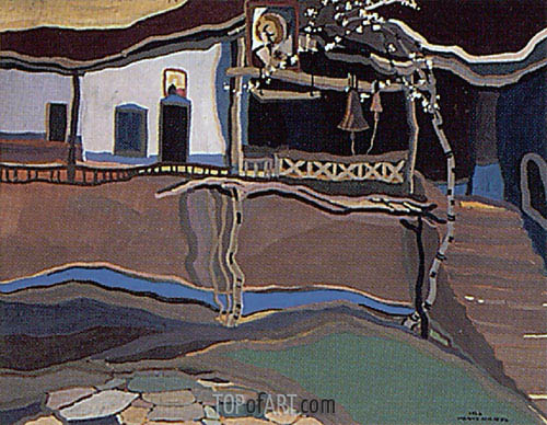 The Maglizh Monastery III, 1925 | Ivan Milev | Painting Reproduction