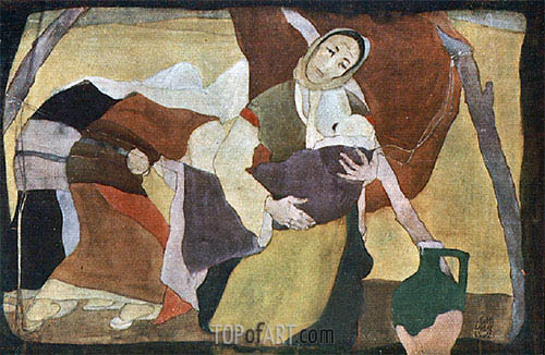 Madonna of the Field, 1925 | Ivan Milev | Painting Reproduction