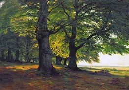 The Teutoburg Forest, 1865 by Ivan Shishkin | Painting Reproduction