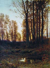 Dusk. Sunset | Ivan Shishkin | Painting Reproduction