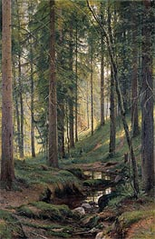 Stream by a Forest Slope | Ivan Shishkin | veraltet