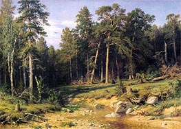 Pine Forest in Viatka Province | Ivan Shishkin | outdated