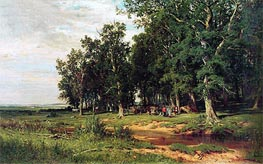 Haymaking in an Oak Grove | Ivan Shishkin | Painting Reproduction