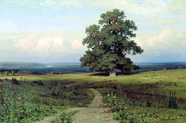 Amidst the Spreading Vale (Among a Valley...), 1883 by Ivan Shishkin | Painting Reproduction