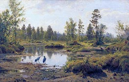 The Polesye Moorlands, 1890 by Ivan Shishkin | Painting Reproduction