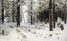 Winter, 1890 by Ivan Shishkin | Painting Reproduction