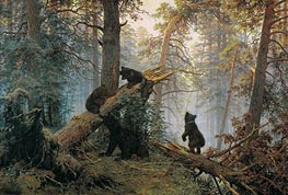 Morning in a Pine Forest, 1889 by Ivan Shishkin | Painting Reproduction
