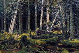 Trees Felled by the Wind (Vologda Woods), 1888 by Ivan Shishkin | Painting Reproduction