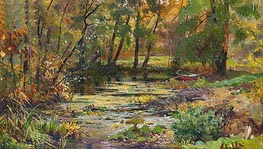 River Spill, undated by Ivan Shishkin | Painting Reproduction