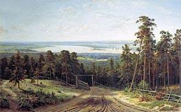 Kama near Yelabuga | Ivan Shishkin | Gemälde Reproduktion