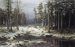 The First Snow, 1875 von Ivan Shishkin | Gemälde-Reproduktion