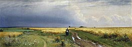 Road in the Rye, 1866 von Ivan Shishkin | Gemälde-Reproduktion
