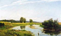 Landscape with a Lake, 1886 von Ivan Shishkin | Gemälde-Reproduktion