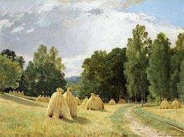 Haystacks, Preobrazhenskoe, 1890 von Ivan Shishkin | Gemälde-Reproduktion